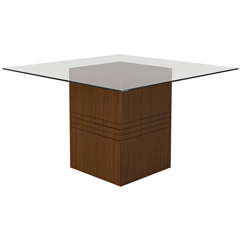 """Perry 1.8 22 1/2"""" Wide Nut Brown Square Wood Dining Table"""
