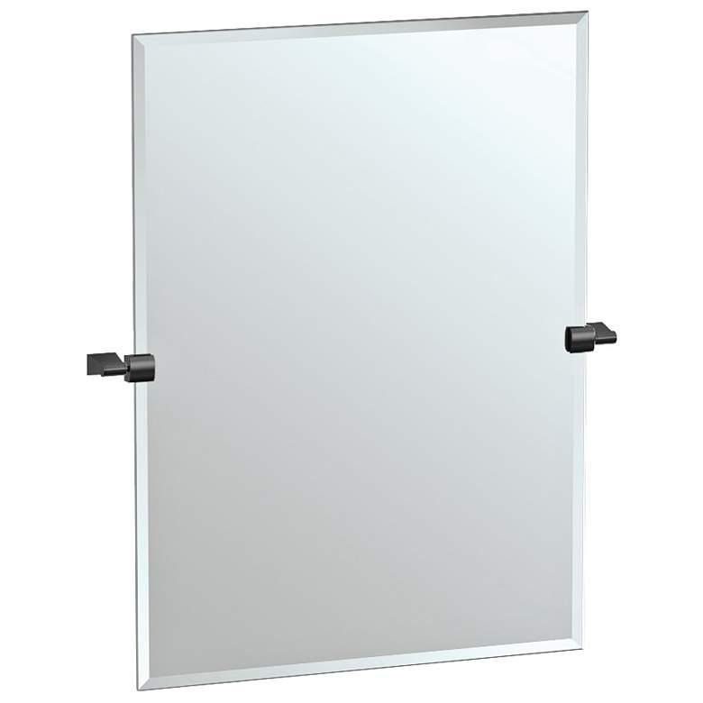 """Bleu Matte Black 27 3/4"""" x 31 1/2"""" Rectangular Wall Mirror"""