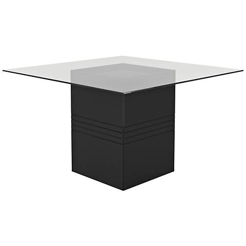 Perry 1.8 Black Gloss Square Wood Dining Table