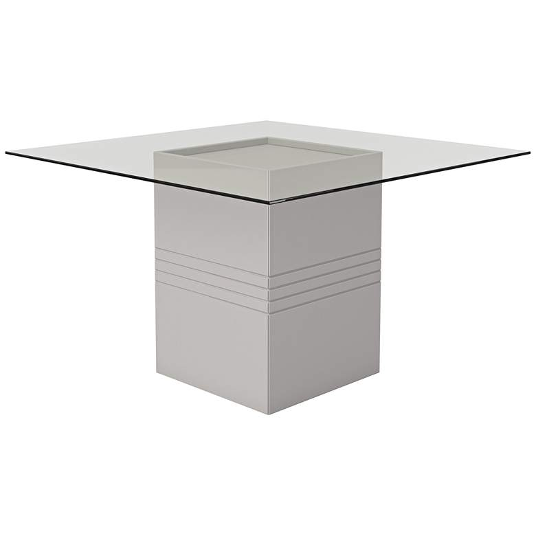 """Perry 1.8 55"""" Wide Off-White Square Wood Dining Table"""