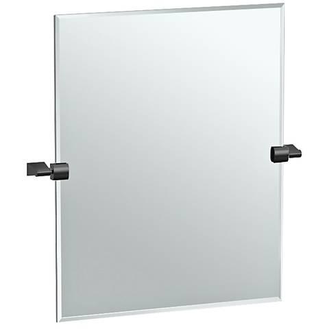 """Gatco Bleu Matte Black 24"""" x 24"""" Rectangle Wall Mirror"""