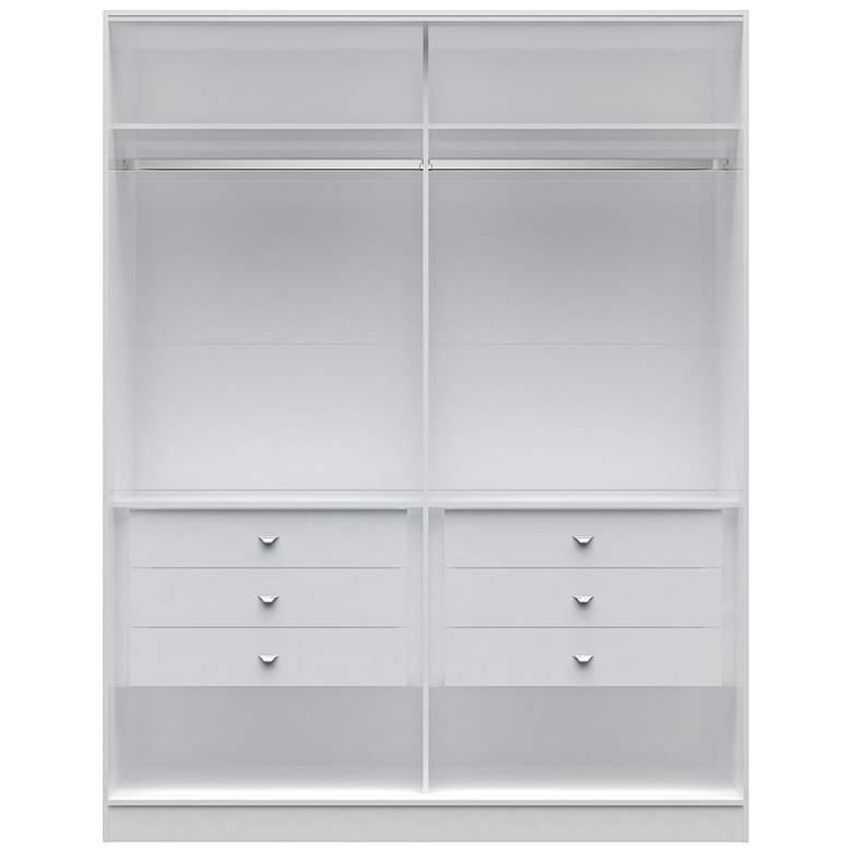 Chelsea 2.0 White Wood He/She Wardrobe Closet