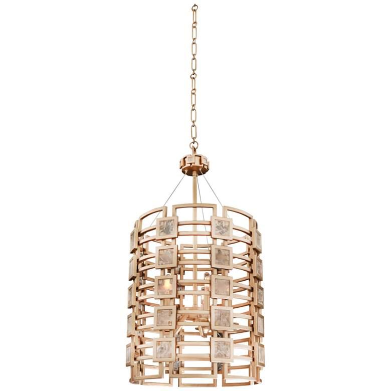 """Metropolis 19"""" Wide Modern Gold Lattice-Cage Pendant Light"""