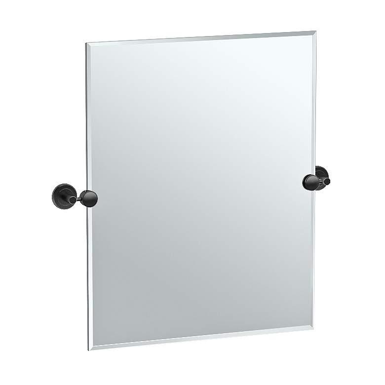 "Latitude II Black 24"" x 24"" Rectangular Wall Mirror"