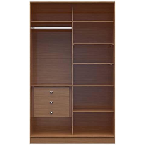 Chelsea 1.0 Maple Cream Wood Full Wardrobe Closet