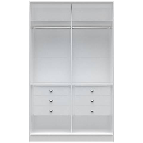 Chelsea 1.0 White Wood He/She Wardrobe Closet