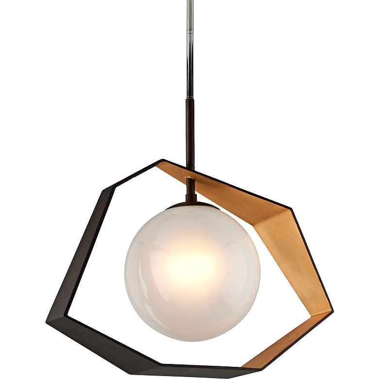 "Origami 26"" Wide Bronze LED Pendant Light"