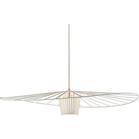 "Tides 36"" Wide Textured White Pendant Light"