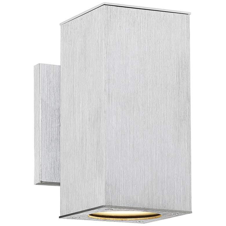 "Possini Euro Clovis 8 1/4""H Nickel LED Outdoor Wall Light"