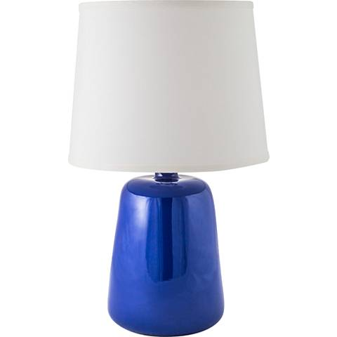RiverCeramic® Gumdrop Gloss Primary Blue Table Lamp