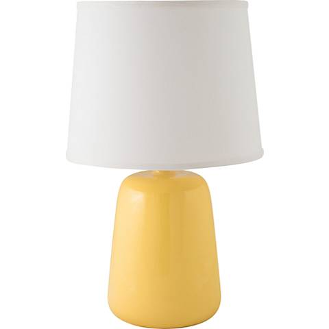 RiverCeramic® Gumdrop Gloss Straw Yellow Table Lamp