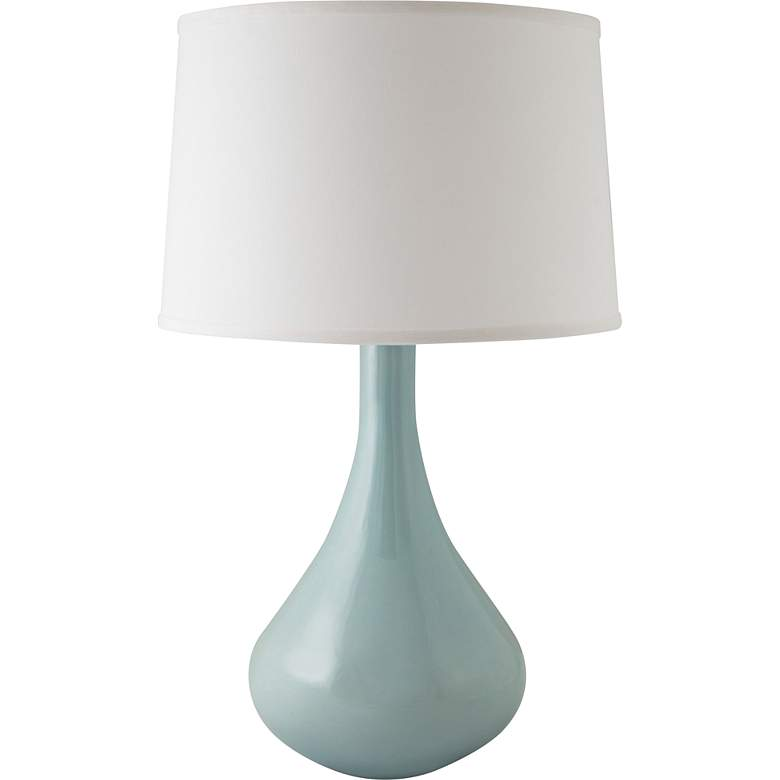 RiverCeramic® Genie Gloss Mist Gray Table Lamp