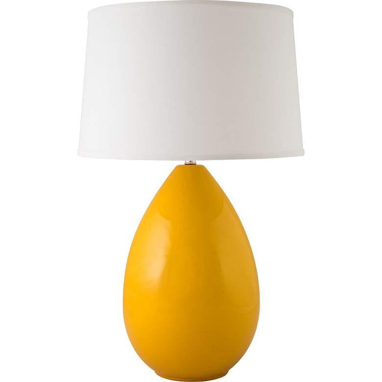 RiverCeramic® Egg Gloss Curry Yellow Table Lamp