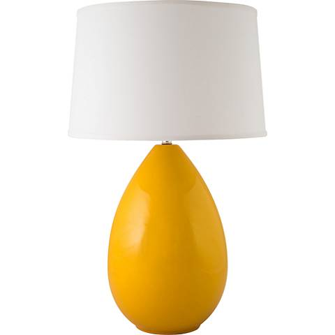 Riverceramic Egg Gloss Curry Yellow Table Lamp 13v27 Lamps Plus
