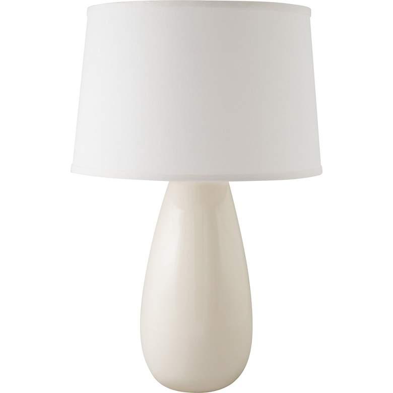 RiverCeramic® Teardrop Gloss White Mini Table Lamp