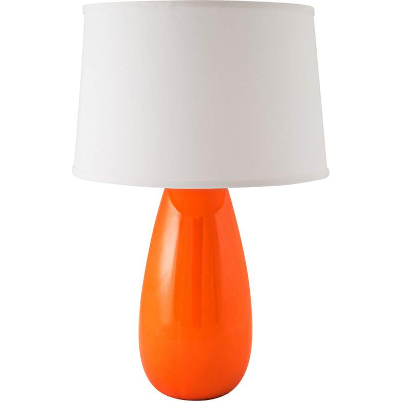 RiverCeramic® Teardrop Gloss Paprika Mini Table Lamp