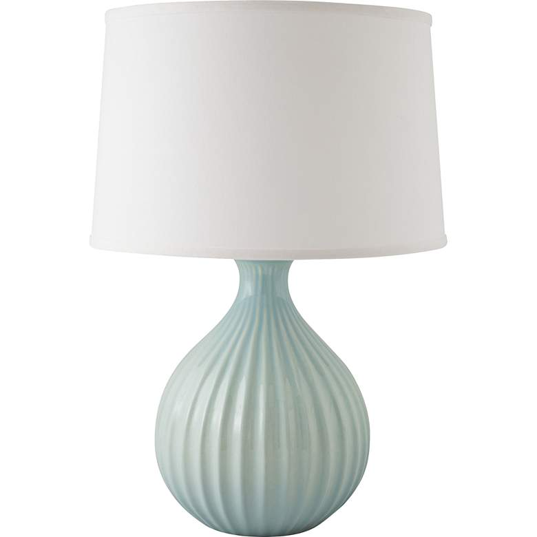 RiverCeramic® Sprout Gloss Mist Gray Table Lamp