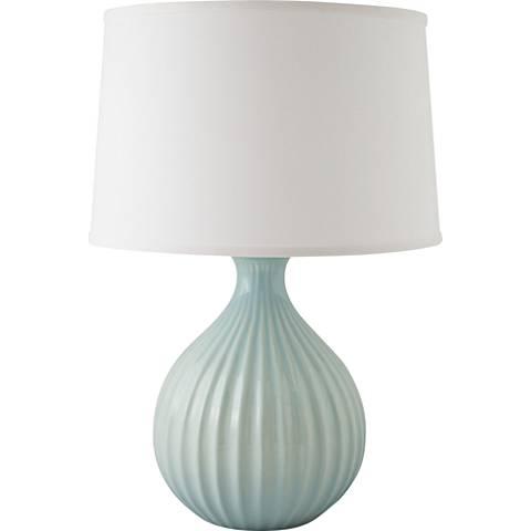 RiverCeramic® Sprout Gloss Mist Gray Table Lamp