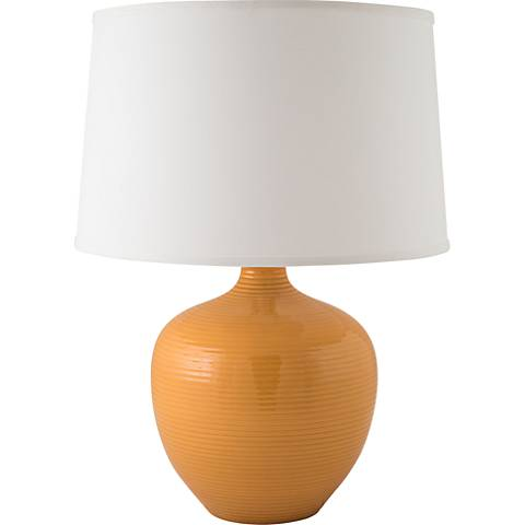 RiverCeramic® Bean Pot Nutmeg Orange Table Lamp