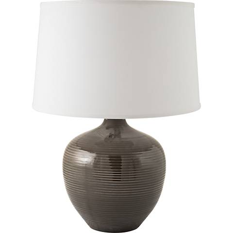 RiverCeramic® Bean Pot Gloss Charcoal Table Lamp