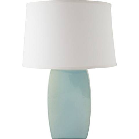 RiverCeramic® Soft Rectangle Gloss Mist Gray Table Lamp