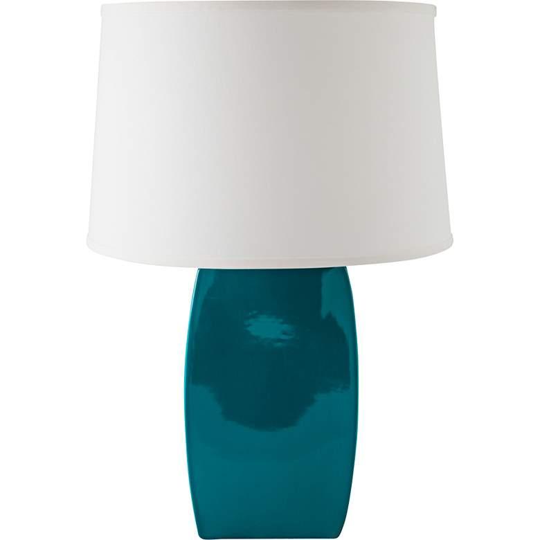RiverCeramic® Soft Rectangle Gloss Ocean Table Lamp
