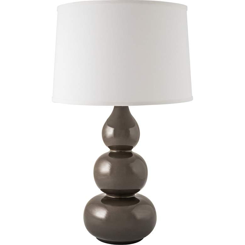 RiverCeramic® Triple Gourd Gloss Charcoal Table Lamp