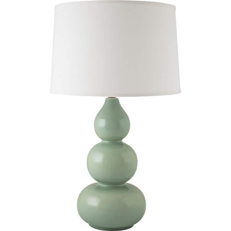 RiverCeramic® Triple Gourd Gloss Wythe Blue Table Lamp