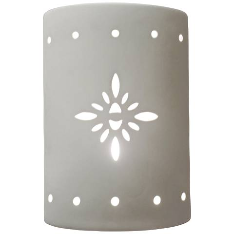"Asavva 10 1/2"" High White Outdoor Wall Light with Starburst"