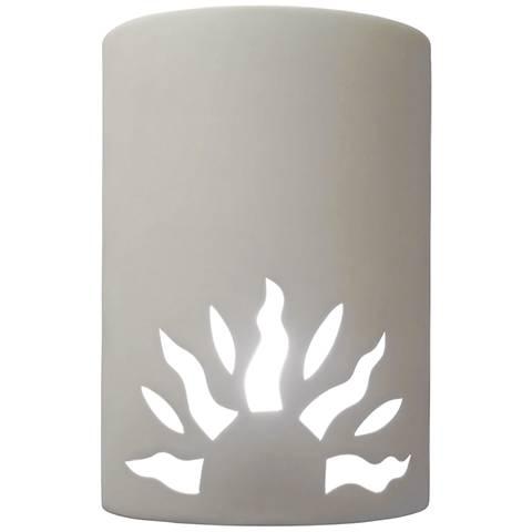 "Asavva 10 1/2"" High White Outdoor Wall Light with Half Sun"