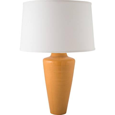 RiverCeramic® Heart Nutmeg Orange Table Lamp