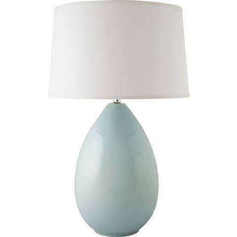 RiverCeramic® Egg Gloss Mist Gray Table Lamp