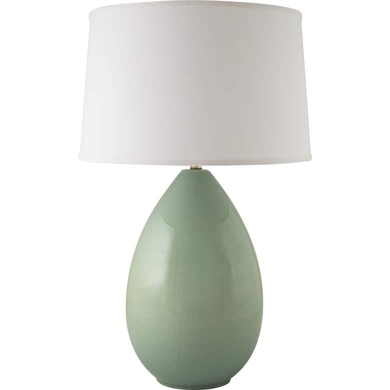 RiverCeramic® Egg Gloss Wythe Blue Table Lamp