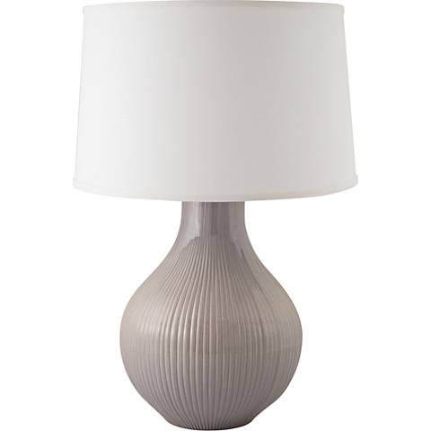 RiverCeramic® Classic Fluted Gloss Swanky Gray Table Lamp