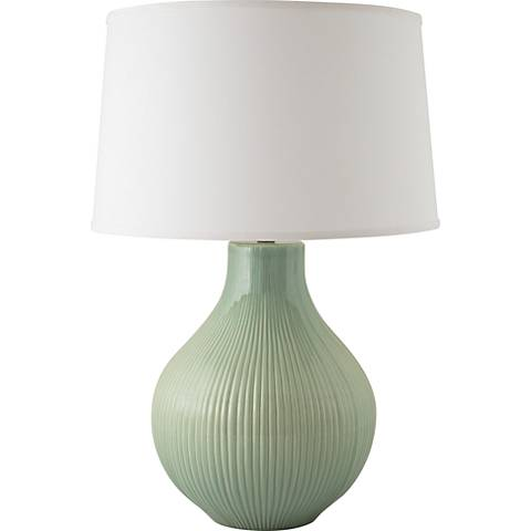 RiverCeramic® Classic Fluted Gloss Wythe Blue Table Lamp