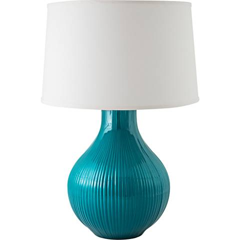 RiverCeramic® Classic Fluted Gloss Ocean Table Lamp