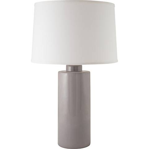 RiverCeramic® Cylinder Gloss Swanky Gray Table Lamp