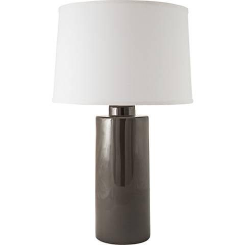 RiverCeramic® Cylinder Gloss Charcoal Table Lamp