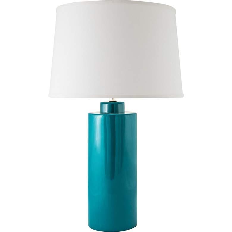 RiverCeramic® Cylinder Gloss Ocean Table Lamp