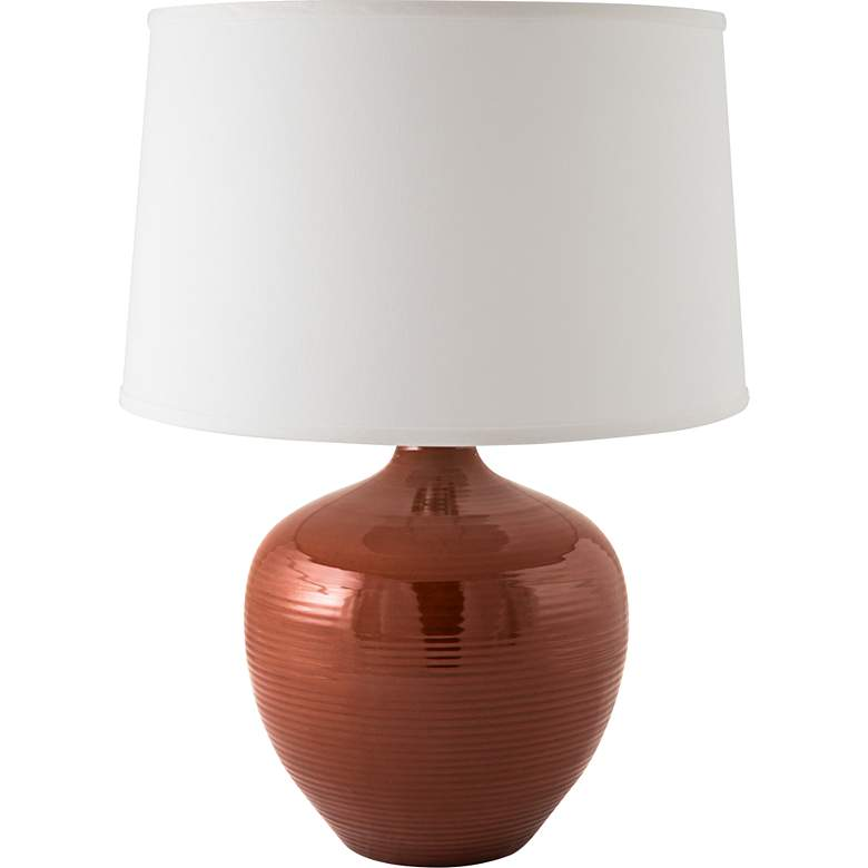 RiverCeramic® Bean Pot Cayenne Table Lamp