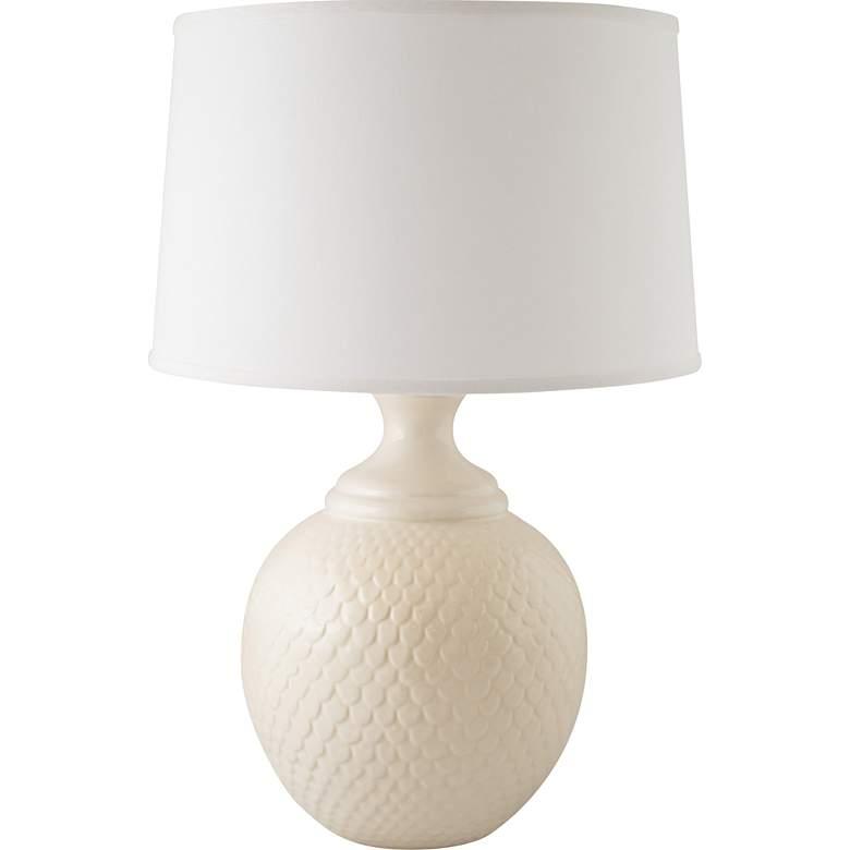 RiverCeramic® Shell Dance Gloss White Table Lamp