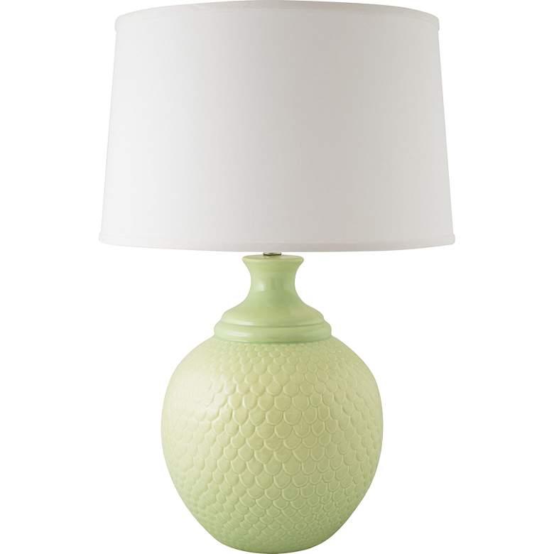 RiverCeramic® Shell Dance Gloss Crisp Green Table Lamp