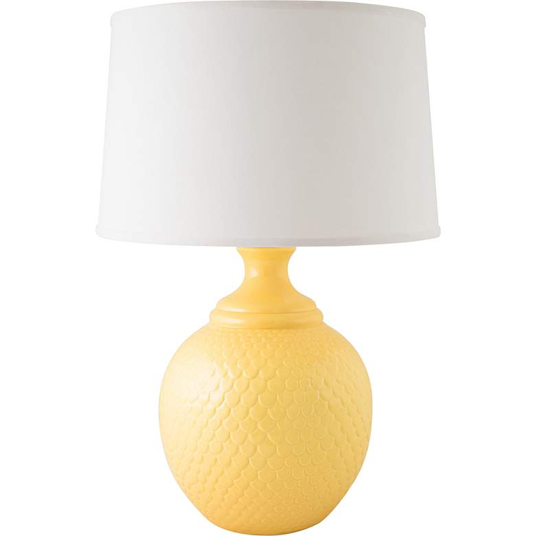 RiverCeramic® Shell Dance Gloss Straw Yellow Table Lamp