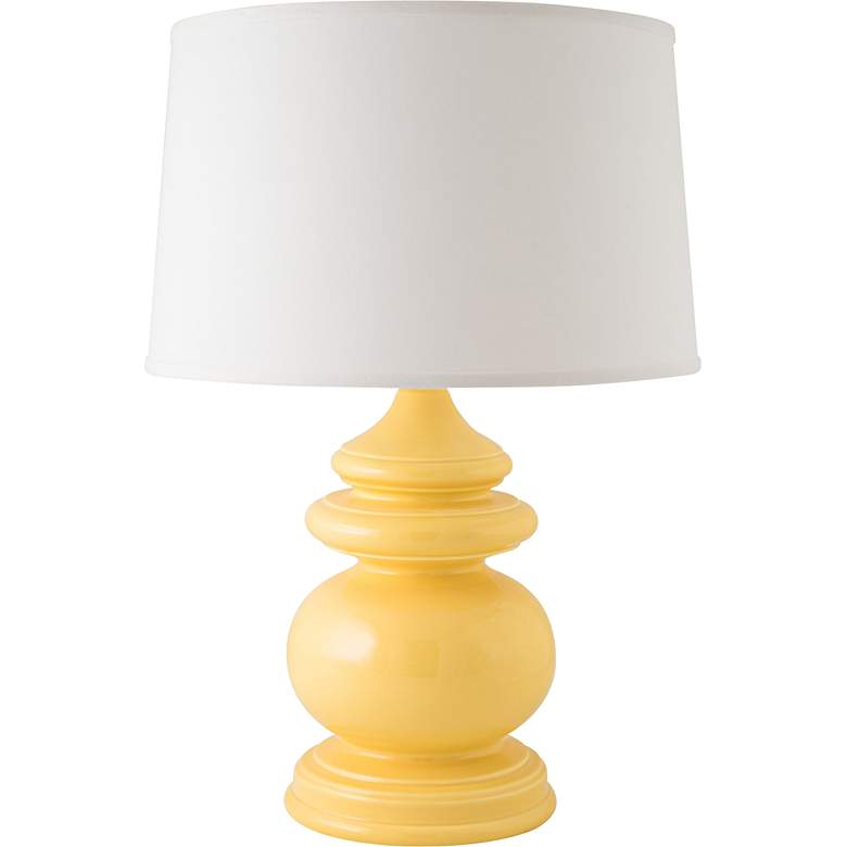 RiverCeramic® Cottage Gloss Straw Yellow Table Lamp