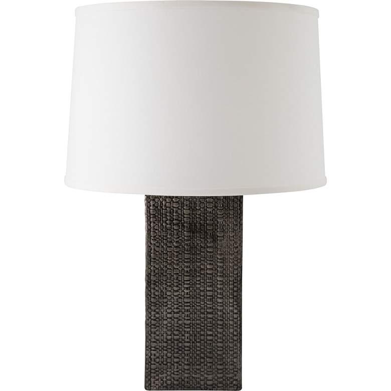 RiverCeramic® Linen Textured Antique Gray Table Lamp