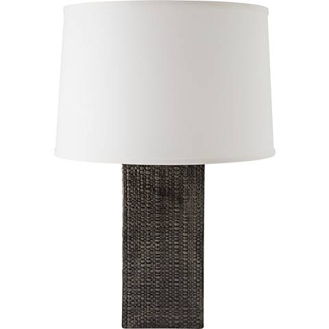 RiverCeramic® Linen Textured Antique Gray Table Lamp