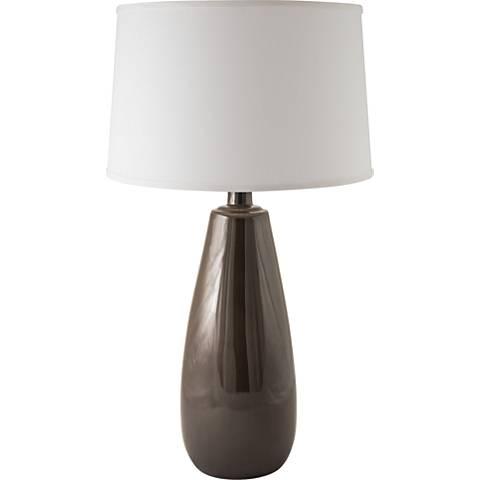 RiverCeramic® Teardrop Charcoal Table Lamp