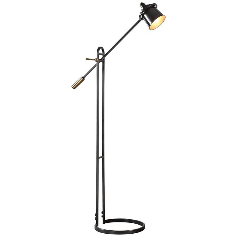 Uttermost Chisum Oil Rubbed Bronze Adjustable Floor Lamp
