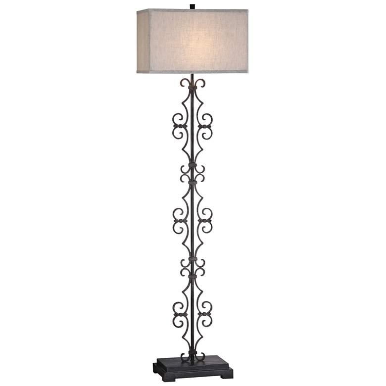 Uttermost Adelardo Rust-Bronze Flourish Iron Floor Lamp
