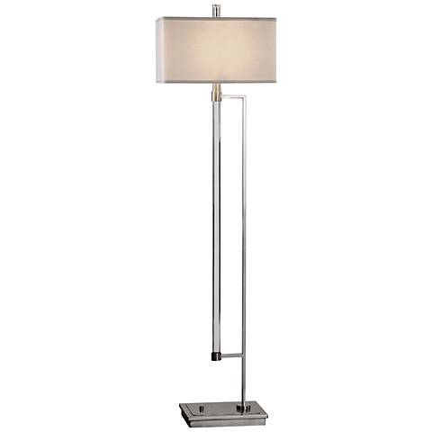 Uttermost Mannan Acrylic Rod and Polished Nickel Floor Lamp - #13X04 ...